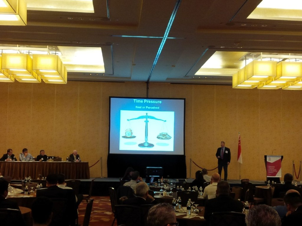 geezer speaking at IADC HSE Asia Pacific